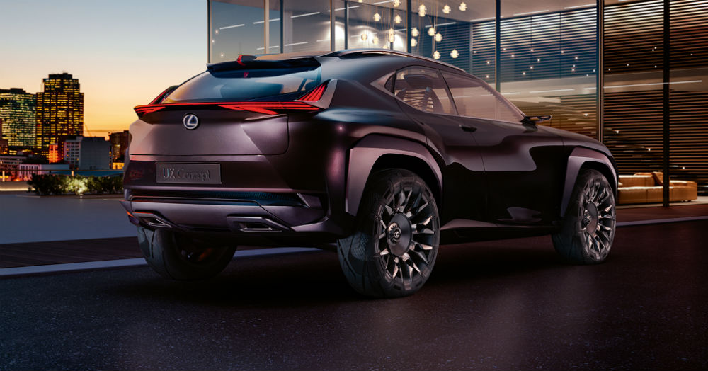 rear view of the Lexus UX concept vehicle