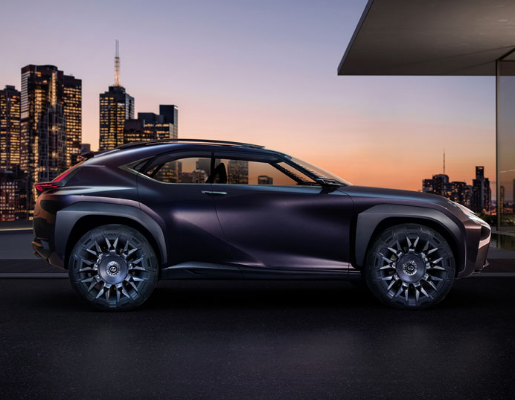 side view of Lexus UX concept